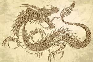 Mysterious dragon emblem found in the mythical elder scrolls.